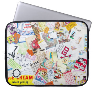Neoprene Laptop Sleeve 15 Inch - Vintage Design