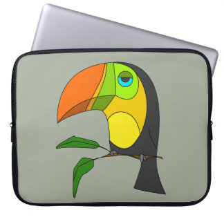 Neoprene Laptop Sleeve 15 toucan