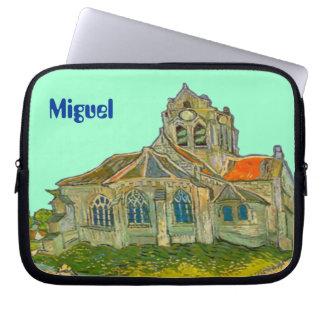Neoprene Laptop Sleeve with Name & Van Gogh Motif