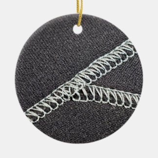 Neoprene seam ceramic ornament