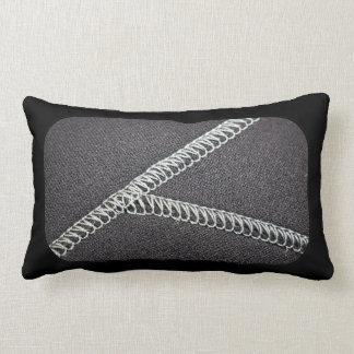 Neoprene seam throw pillow