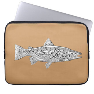 Neoprene small pocket Fario Trout Laptop Sleeves