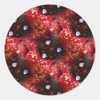 Neoregelia Aztec Bromeliad Plant Classic Round Sticker