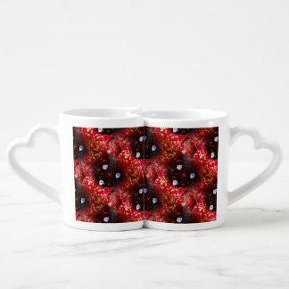 Neoregelia Aztec Bromeliad Plant Coffee Mug Set
