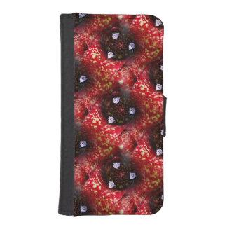 Neoregelia Aztec Bromeliad Plant Wallet Phone Case For iPhone SE/5/5s
