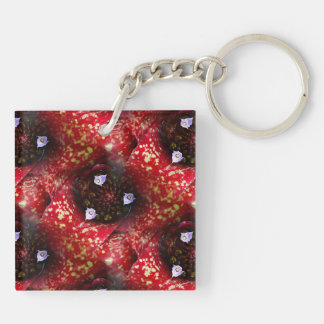 Neoregelia Bromeliad Plant Acrylic Key Chain