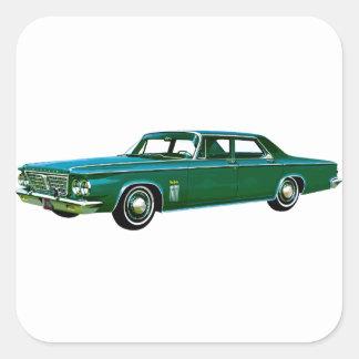 Neoyorquino 1963 de Chrysler Pegatinas Cuadradas