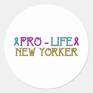 Neoyorquino antiabortista etiquetas redondas