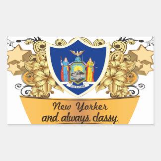 Neoyorquino con clase rectangular altavoz