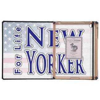 Neoyorquino para la vida iPad funda
