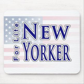 Neoyorquino para la vida tapetes de ratón