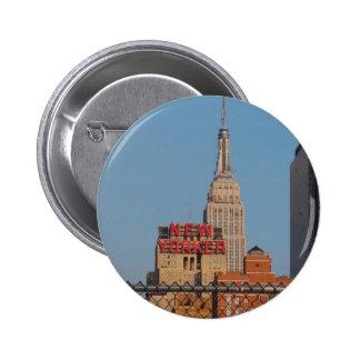 Neoyorquino Pin Redondo De 2 Pulgadas