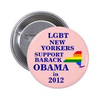 Neoyorquinos de LGBT para Obama 2012 Pin