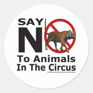 NEPA Animal Adoption Network  Say No To The Circus Round Stickers