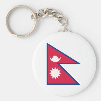 Nepal - bandera del Nepali Llavero Redondo Tipo Pin