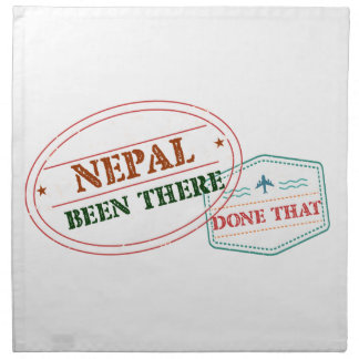 Nepal Been There Done That Cloth Napkin