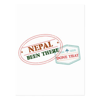 Nepal Been There Done That Postcard