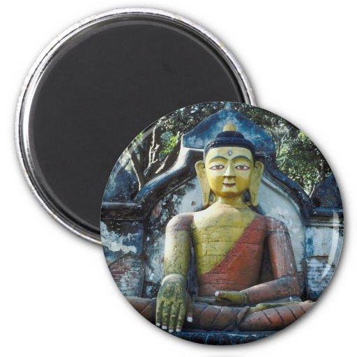 Nepal Buddha 2 Inch Round Magnet