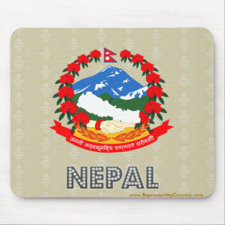 Nepal Coat of Arms Mouse Pad