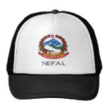 Nepal Coat of Arms Trucker Hats