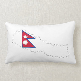 nepal country flag map throw pillows