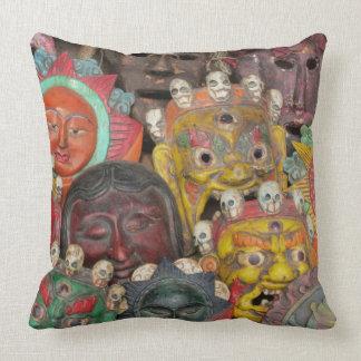 Nepal Deity Mask Pillow