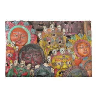 Nepal Deity Mask Travel Accessory Bag