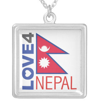 Nepal Earthquake Square Pendant Necklace