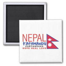 Nepal Earthquake Survivor Support 2 Inch Square Magnet