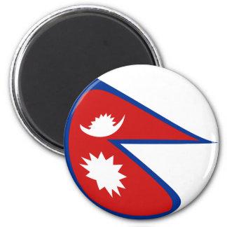Nepal Fisheye Flag Magnet