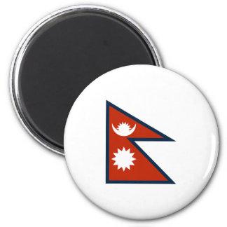 Nepal Flag 2 Inch Round Magnet