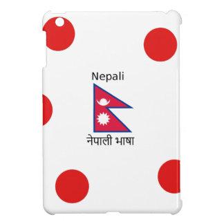 Nepal Flag And Nepali Language Design iPad Mini Cover