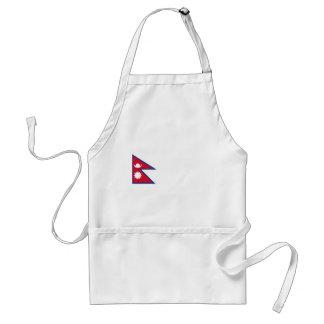 Nepal flag apron