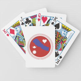 Nepal Flag Bicycle Playing Cards