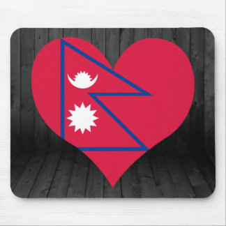 Nepal flag colored mouse pad