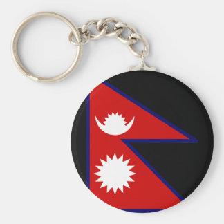 Nepal Flag Key Chain