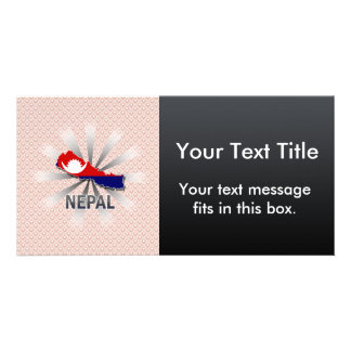 Nepal Flag Map 2.0 Photo Card