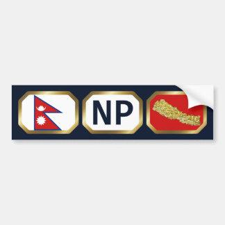 Nepal Flag Map Code Bumper Sticker