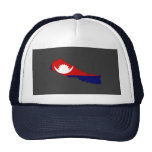 Nepal flag map hats