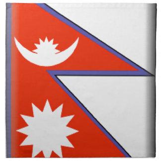 Nepal Flag Napkin