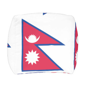 Nepal Flag Outdoor Pouf