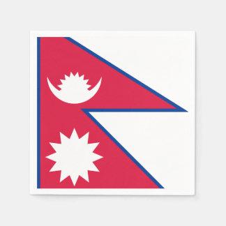 Nepal Flag Paper Napkin
