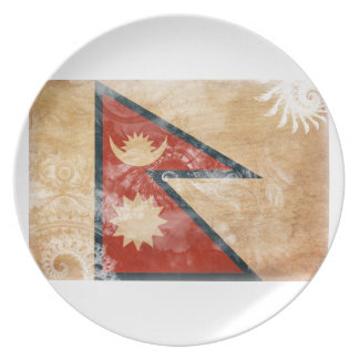 Nepal Flag Party Plates
