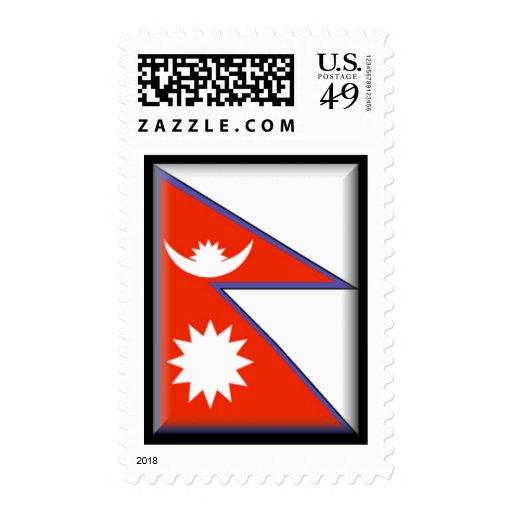 Nepal Flag Postage Stamp