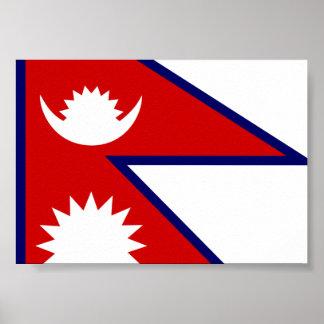 Nepal Flag Poster