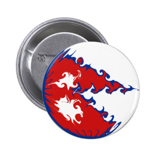 Nepal Gnarly Flag Pinback Button