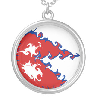 Nepal Gnarly Flag Silver Plated Necklace