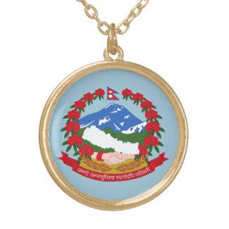 Nepal Gold Finish Round Necklace