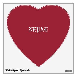 Nepal Heart Wall Sticker