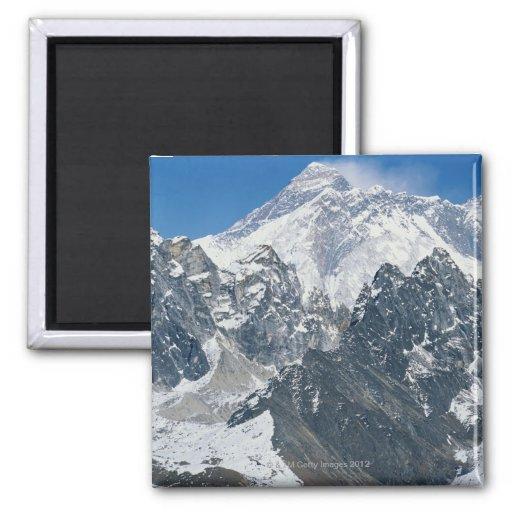 Nepal, Himalaya, vista de Mt Everest de Gokyo Imán Cuadrado